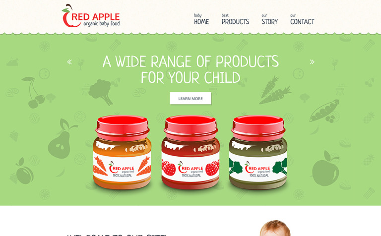 Red Apple Website Template