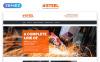 Responsive Steel & Fabrication Industry - Steelworks Clean Responsive HTML Web Sitesi Şablonu Büyük Ekran Görüntüsü