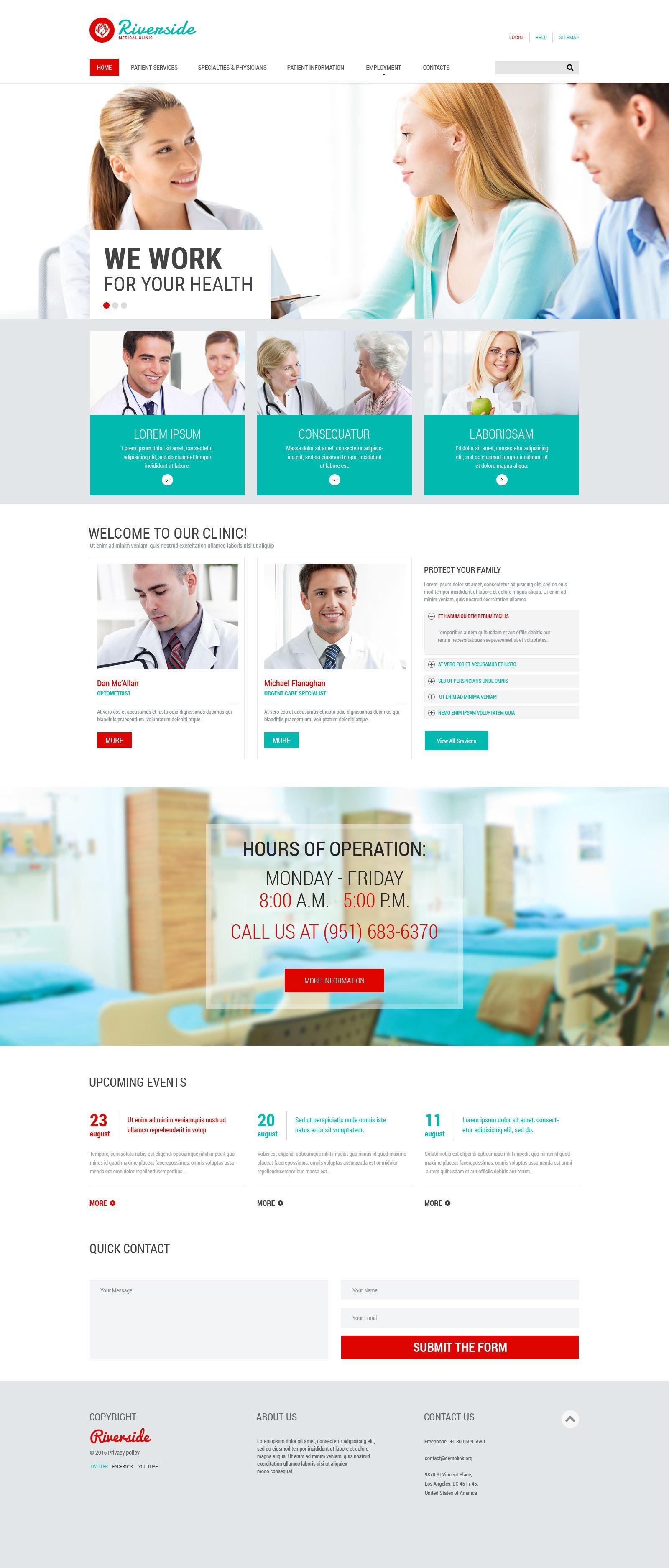 Responsive Website template over Medische №55547 - screenshot