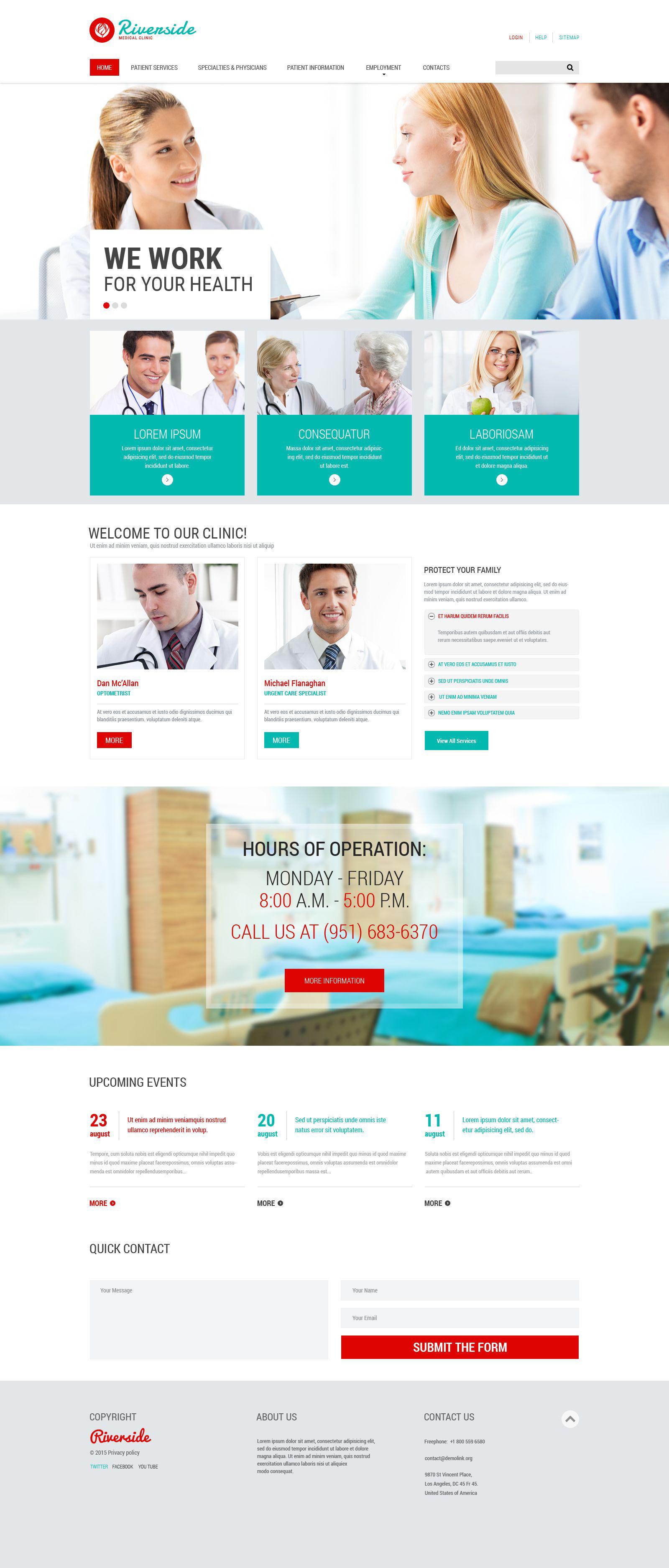 Responsive Website Vorlage für Medizin #55547