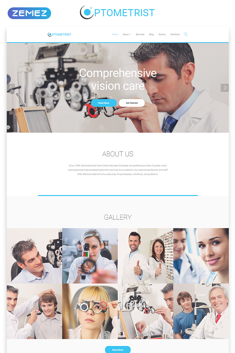 Responsivt Optometrist - Medical Clinic Responsive Clean HTML Hemsidemall #55570