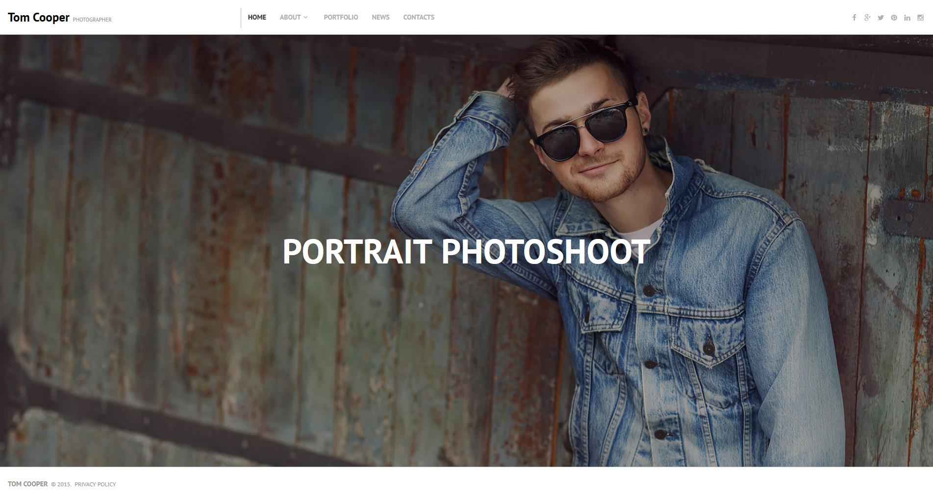 Responsywny szablon Moto CMS 3 #55509 na temat: portfolio fotograficzne - zrzut ekranu