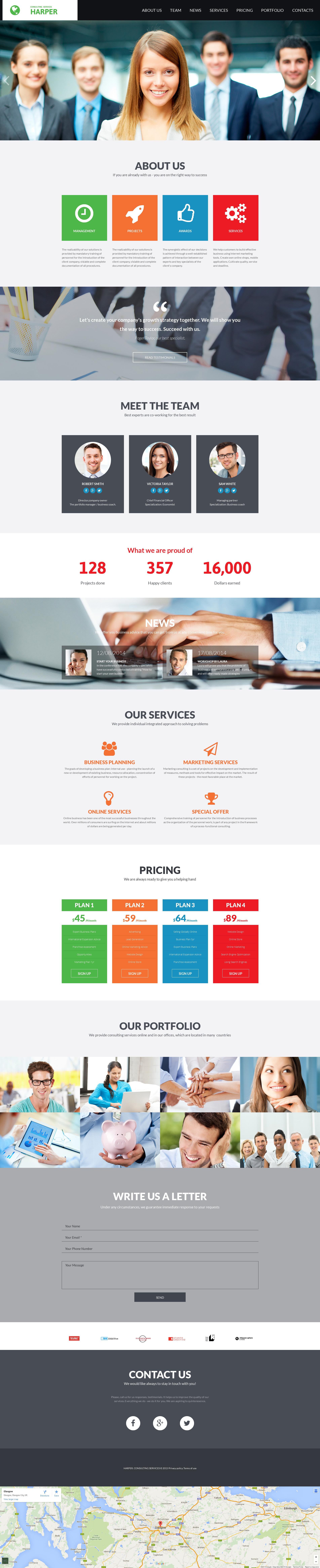 Responsywny szablon Moto CMS 3 #55538 na temat: usługi doradcze - zrzut ekranu