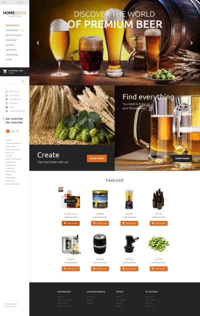 Brewery Responsive OpenCart šablona