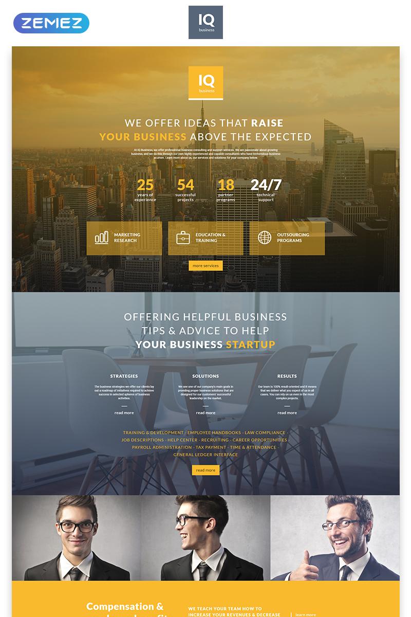 Reszponzív IQ - Consulting Modern HTML Nyítóoldal sablon 55542