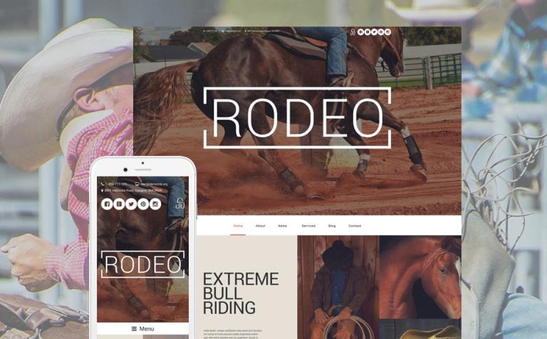 Rodeo Arena WordPress Theme