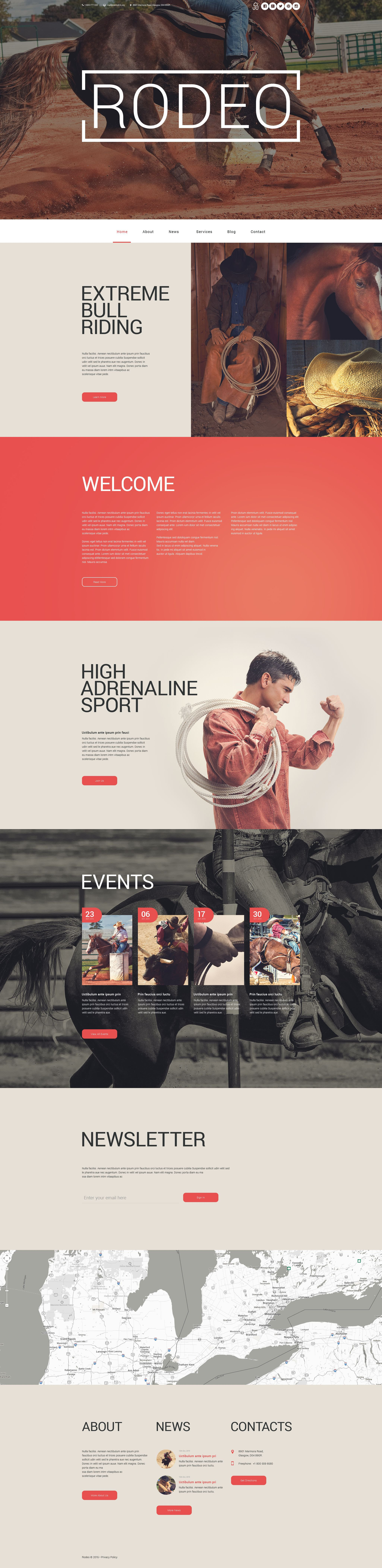 Rodeo Arena WordPress Theme - screenshot