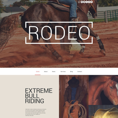 Rodeo  - WordPress Template based on Bootstrap