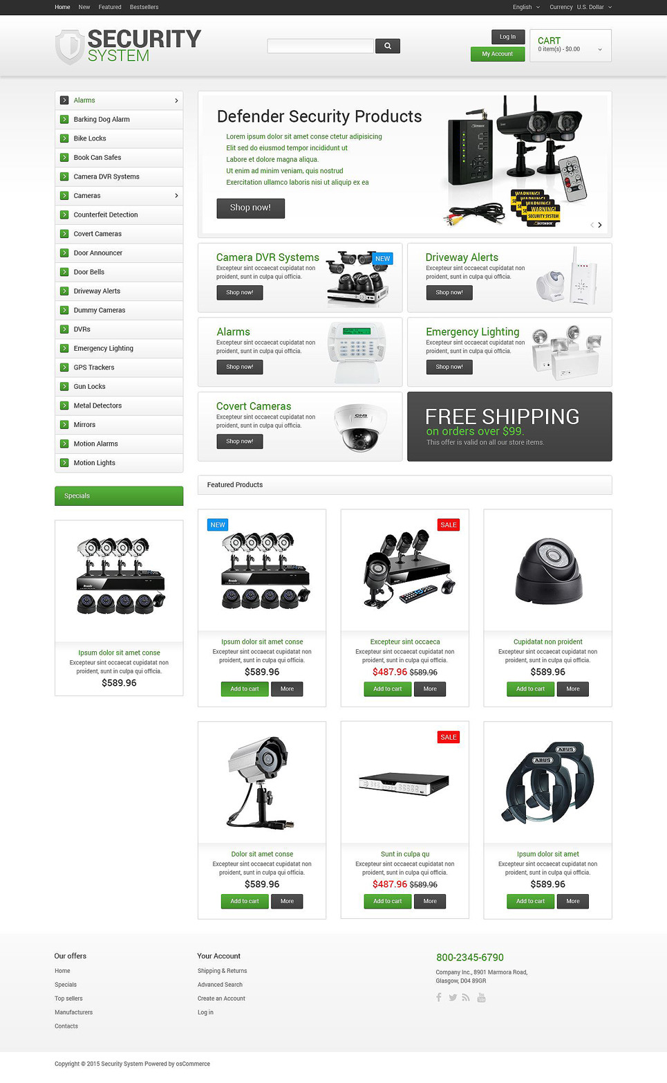 security oscommerce template rh templatemonster com osCommerce Software osCommerce Themes Food