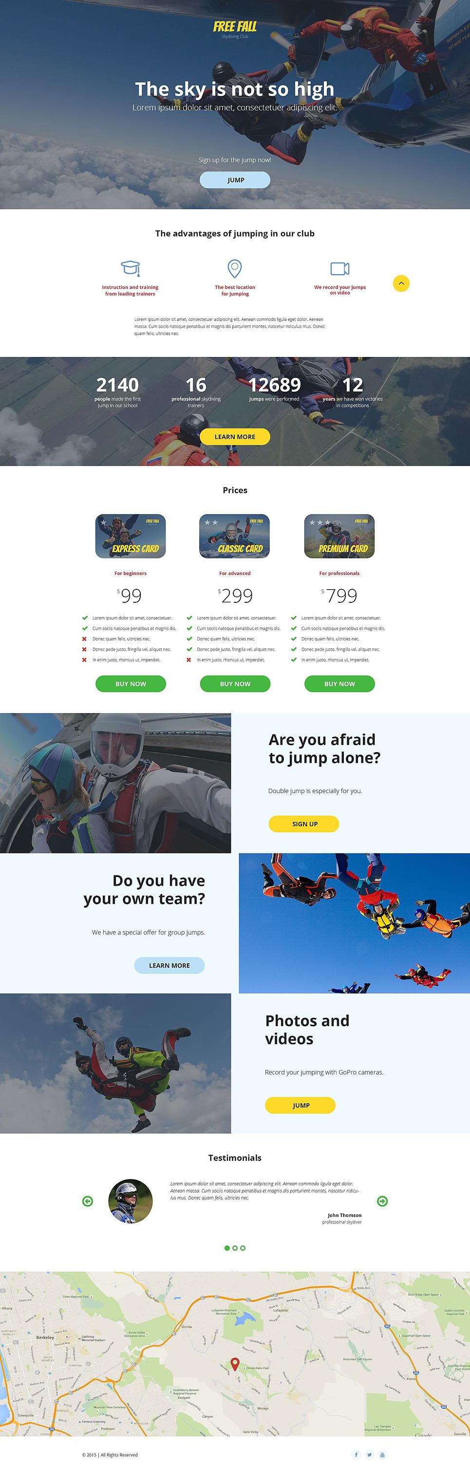 Skydiving Responsive Landing Page Template New Screenshots BIG