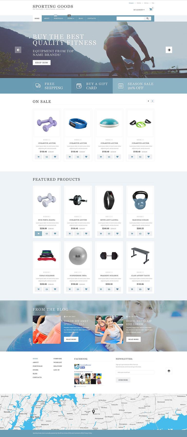 Sporting Goods WooCommerce Theme New Screenshots BIG