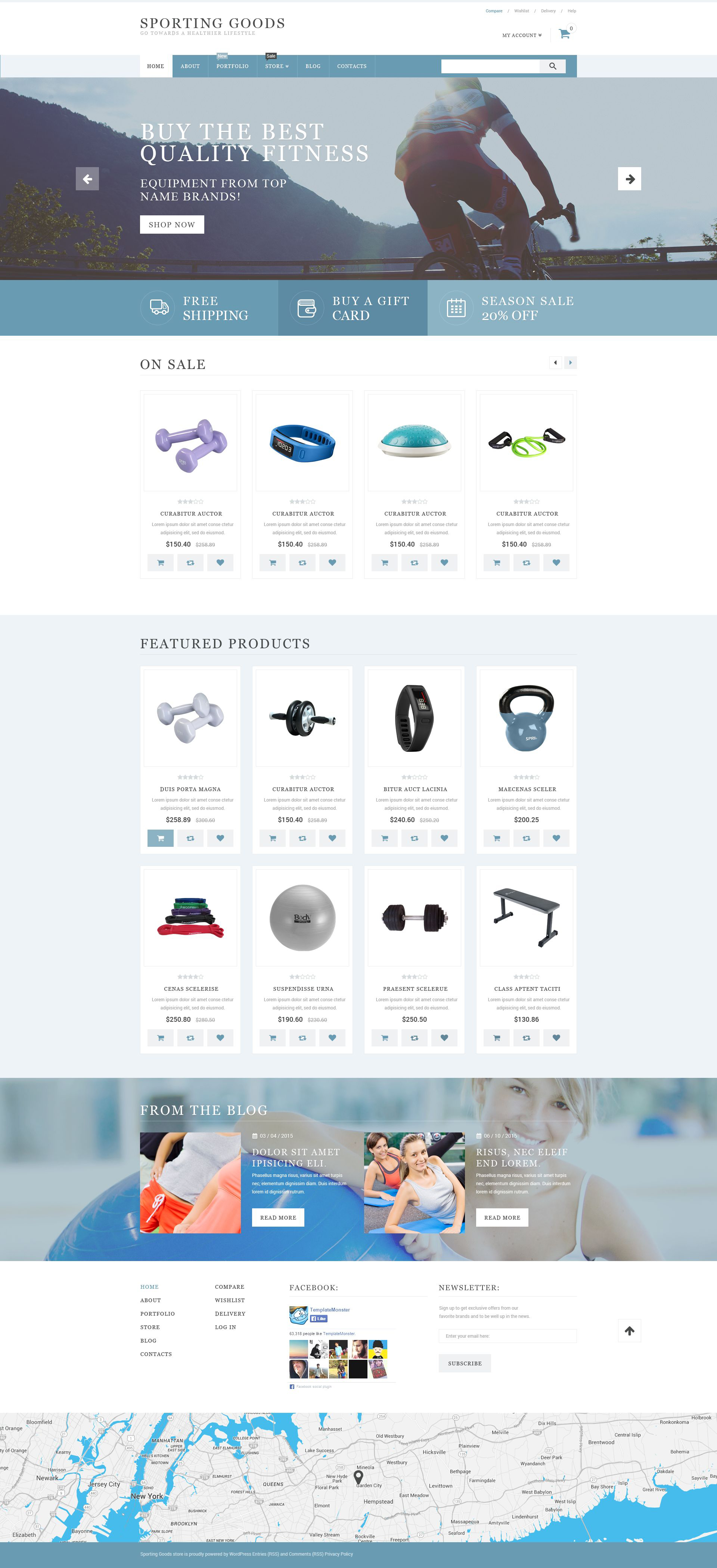 Sporting Goods WooCommerce Theme - screenshot