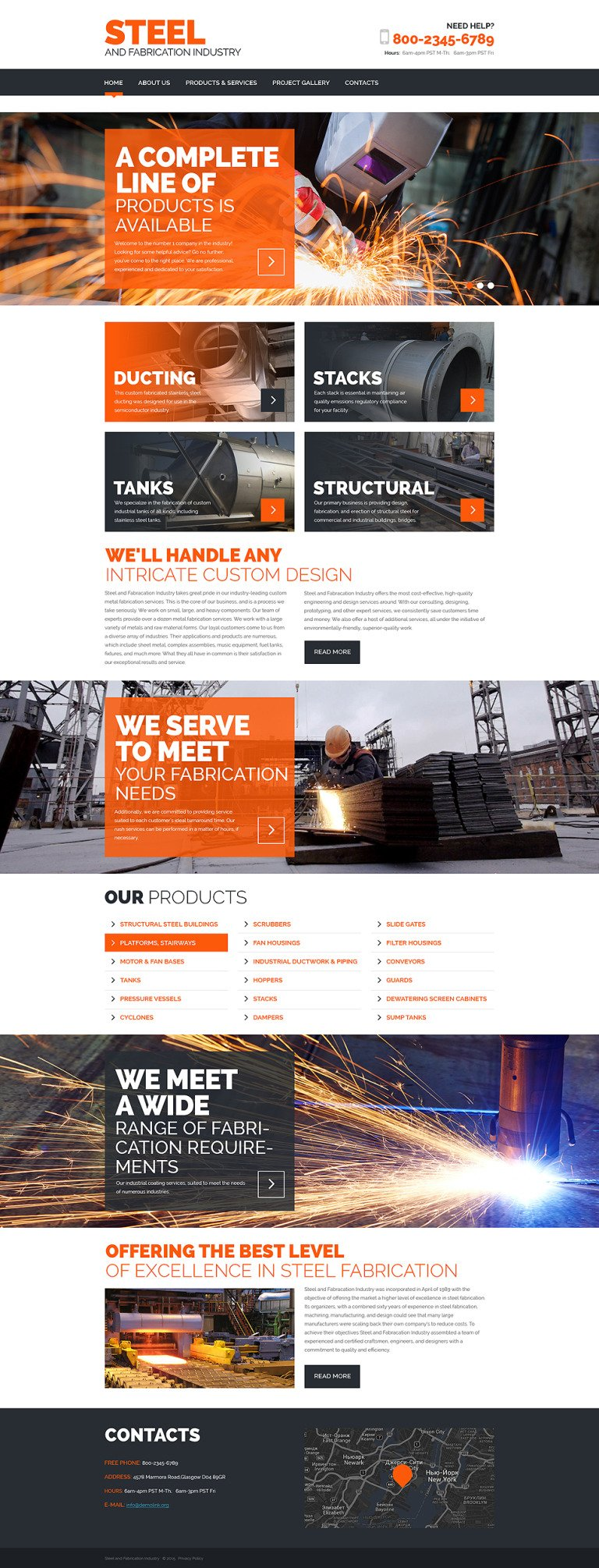 Steel Website Template New Screenshots BIG