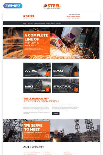 Steel Website Template #55571