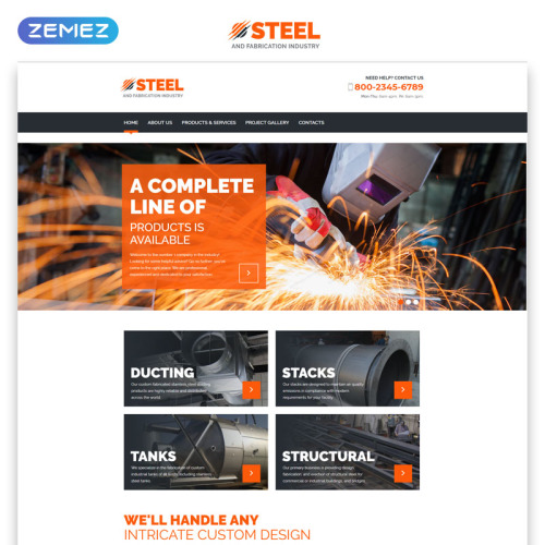 Steel - Responsive Website Template