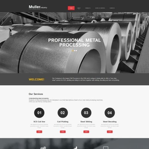 Muller Industry - MotoCMS 3 Template based on Bootstrap