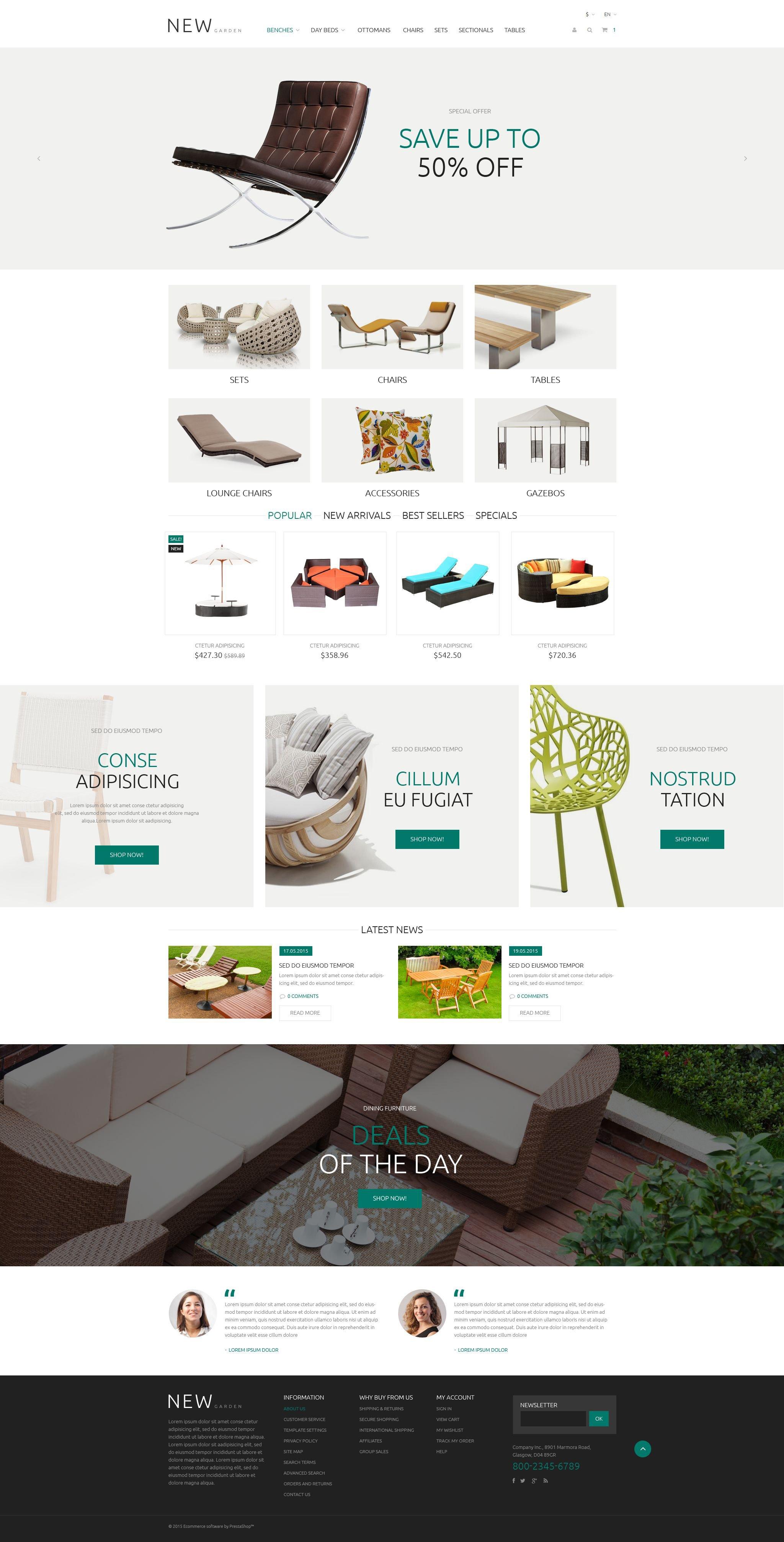 "Tema PrestaShop Responsive #55587 ""Garden Design"""