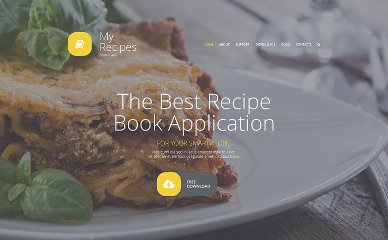 template joomla responsive 55582 per un sito di cucina new screenshots big