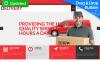 Template Moto CMS 3 Responsive #55510 per Un Sito di Servizi di Consegna New Screenshots BIG