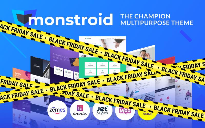 "Template WordPress Responsive #55555 ""Monstroid"""