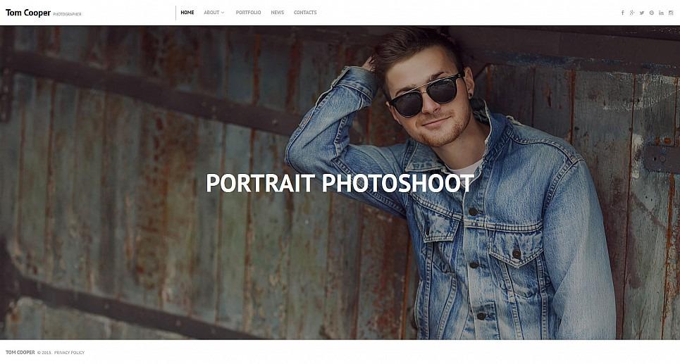 Templates Moto CMS 3 Flexível para Sites de Portfólio de Fotografo №55509 New Screenshots BIG