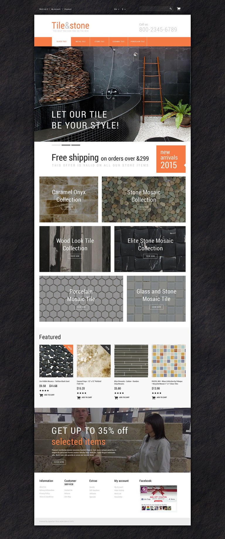 Tile Stone OpenCart Template New Screenshots BIG