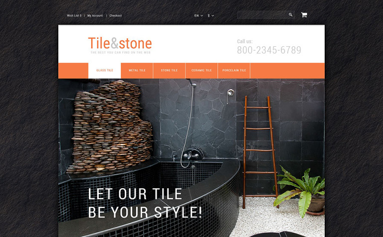 Tile Stone OpenCart Template