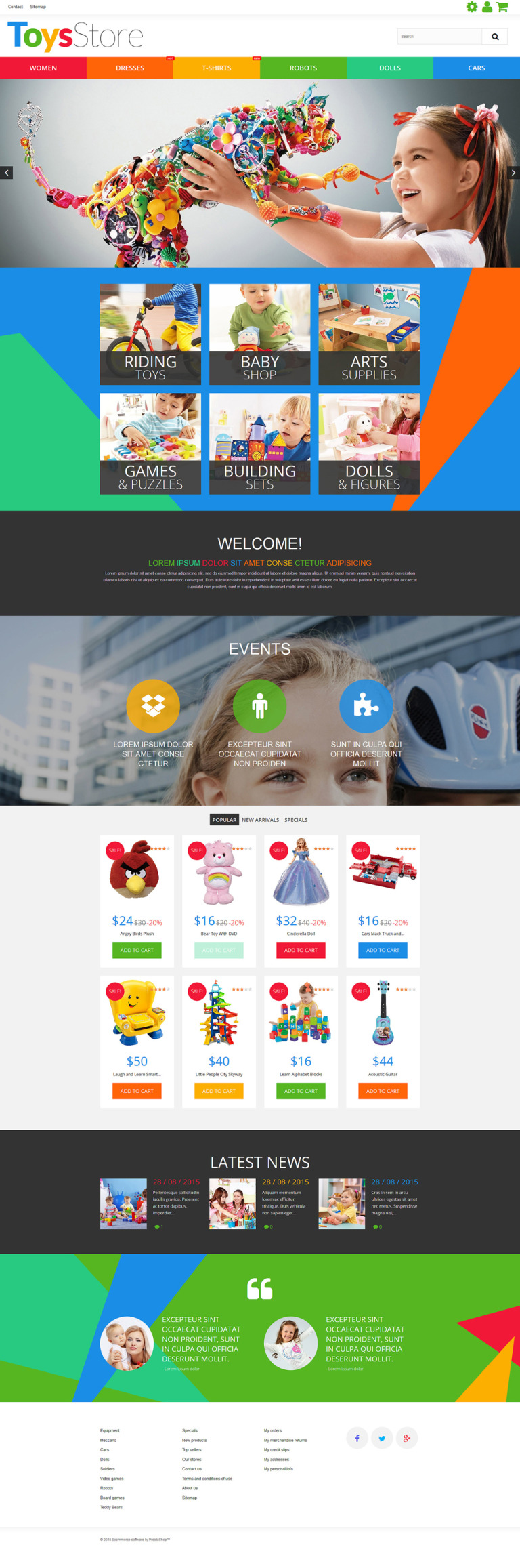 Toys Store PrestaShop Theme New Screenshots BIG