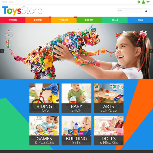 Toys Store - PrestaShop Template based on Bootstrap