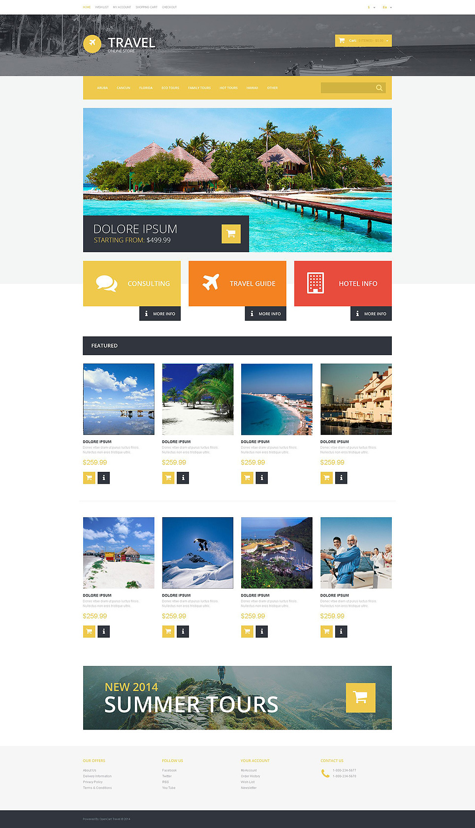 Travel OsCommerce Template New Screenshots BIG