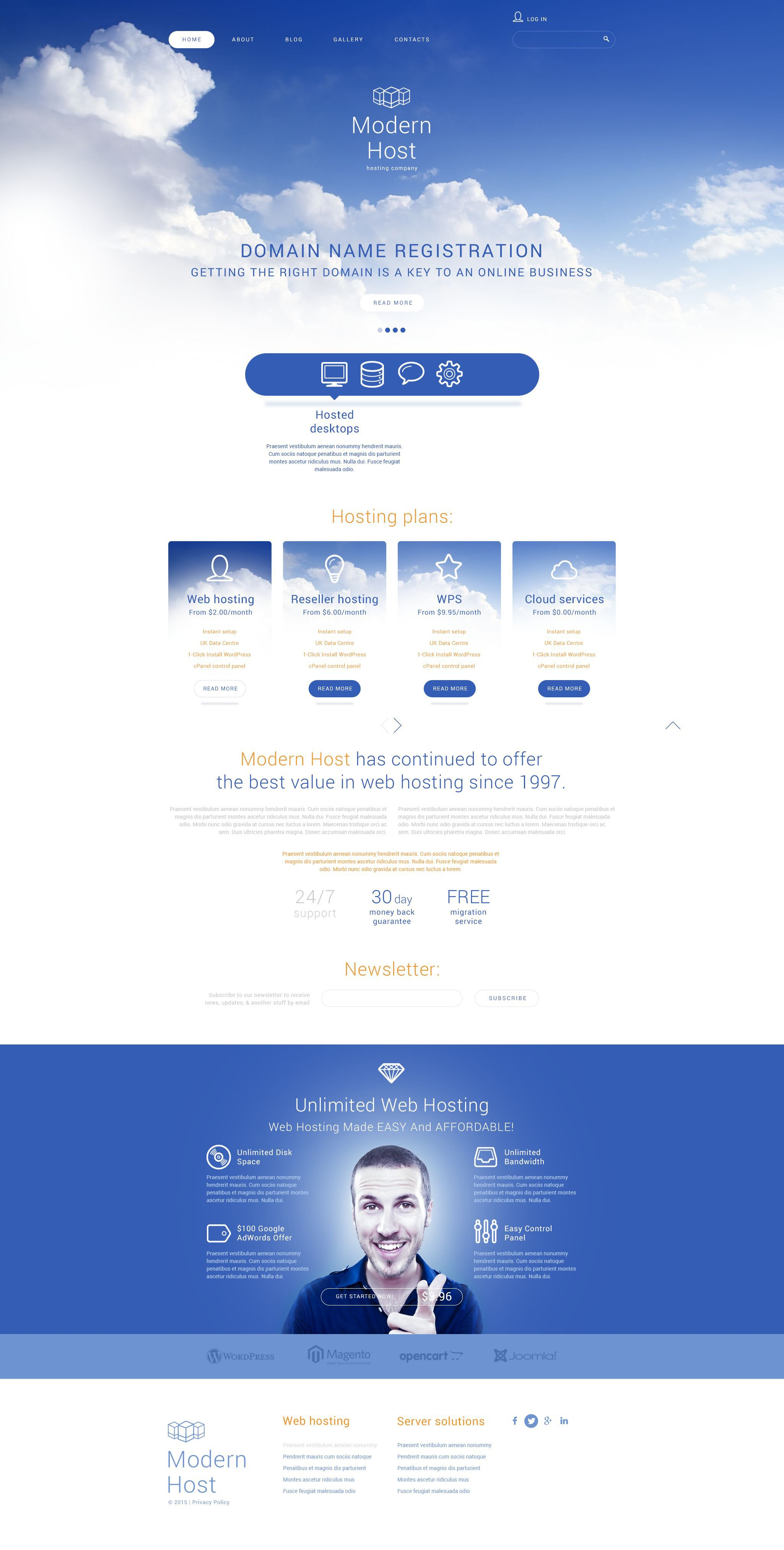 Unlimited Web Hosting Joomla Template