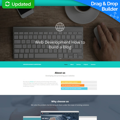Web Development Responsive Moto CMS Template - Web development company templates
