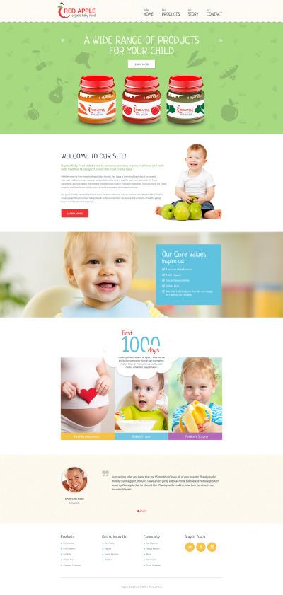 Responsive Website Vorlage für Babyshop