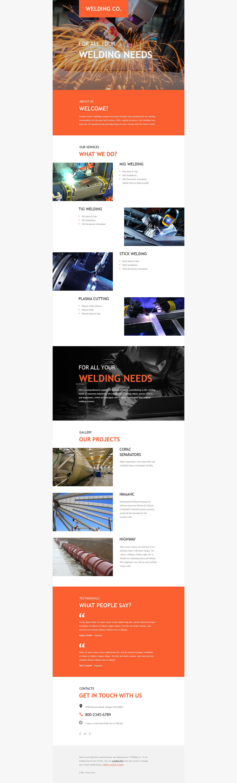 Welding Responsive Newsletter Template New Screenshots BIG