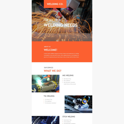 Welding Co. - Responsive Newsletter Template