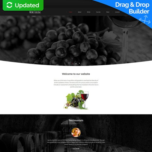 Wine  Cabernet - MotoCMS 3 Template based on Bootstrap
