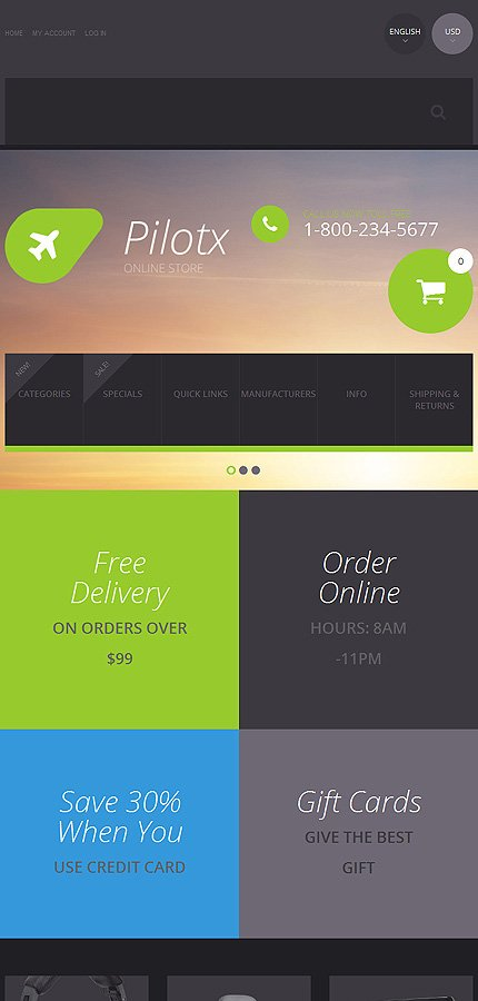 ZenCart Template 55604 Main Page Screenshot