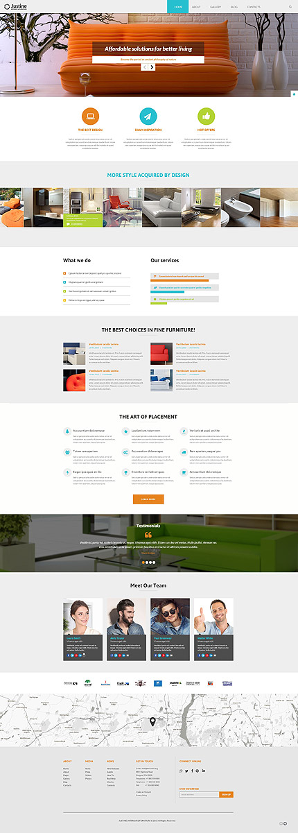 Joomla Theme/Template 55609 Main Page Screenshot