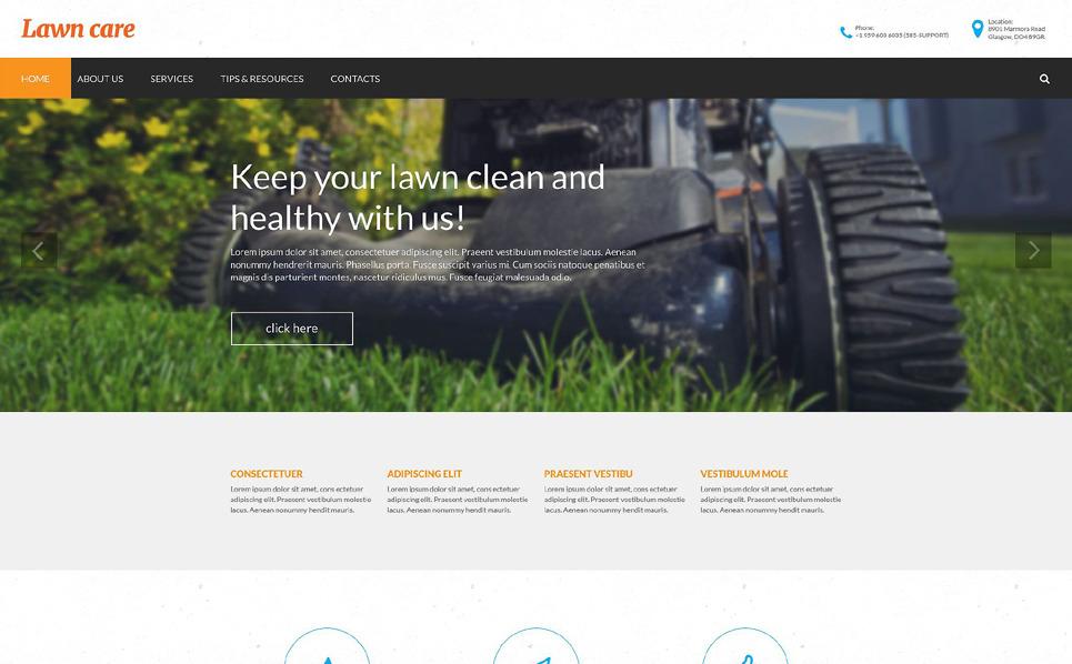 Reszponzív Fűnyírás Weboldal sablon New Screenshots BIG