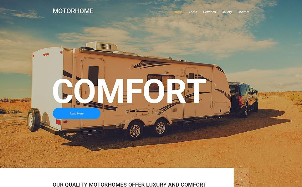 Responsive Website template over Kampeerauto's & RVs New Screenshots BIG