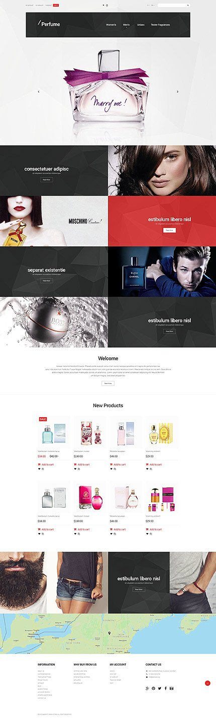 Magento Theme/Template 55621 Main Page Screenshot