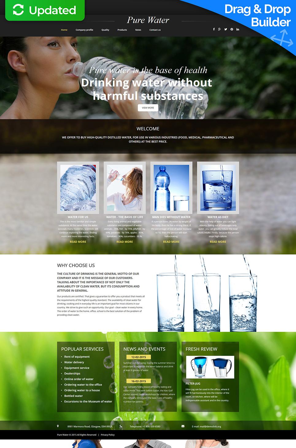 Water brand website template