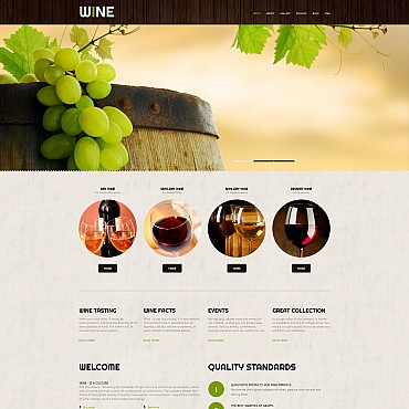 Preview image of Food & Drink Moto CMS 3 template No. 55627