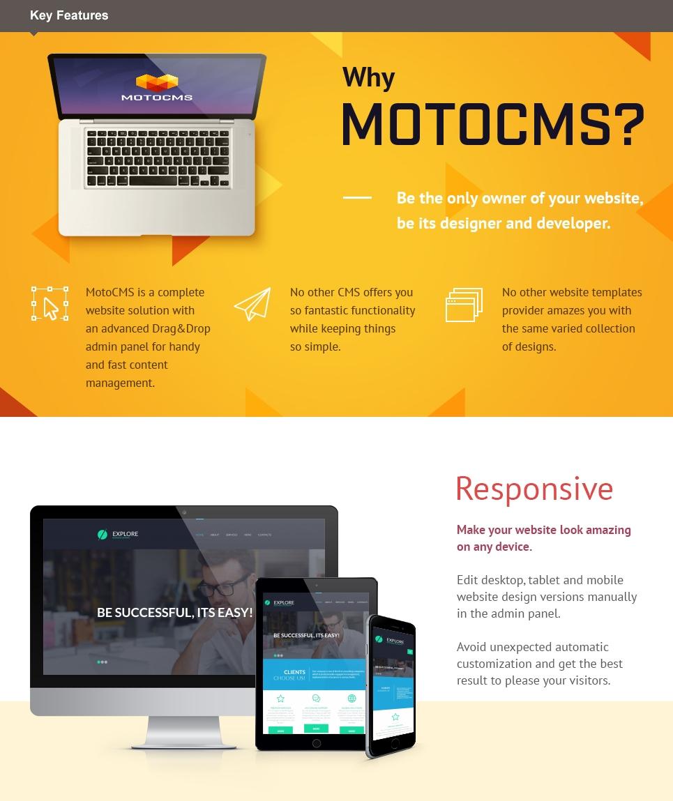 Explore Business  Responsive Moto CMS 3 Template