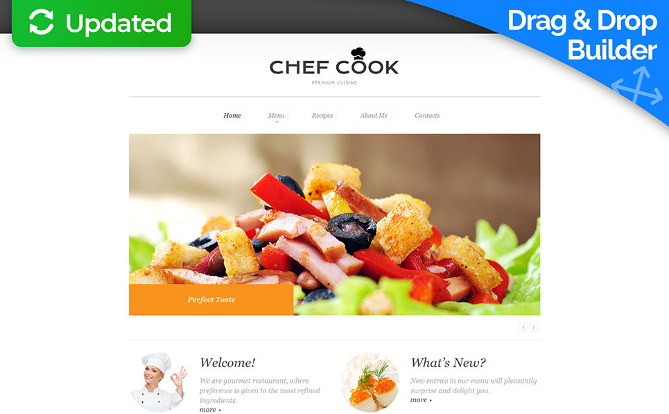 Responsive Moto CMS 3 Template over Chef  New Screenshots BIG
