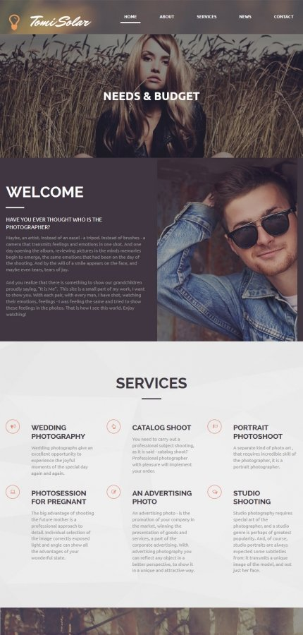 ADOBE Photoshop Template 55630 Home Page Screenshot