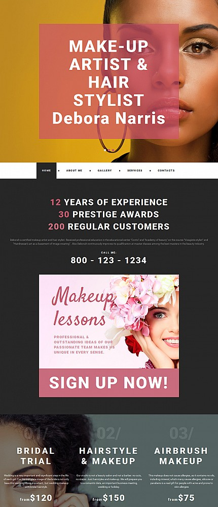 ADOBE Photoshop Template 55632 Home Page Screenshot
