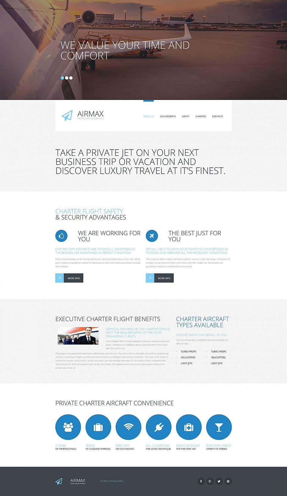 Website template for air companies