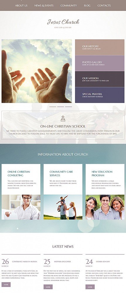 ADOBE Photoshop Template 55635 Home Page Screenshot