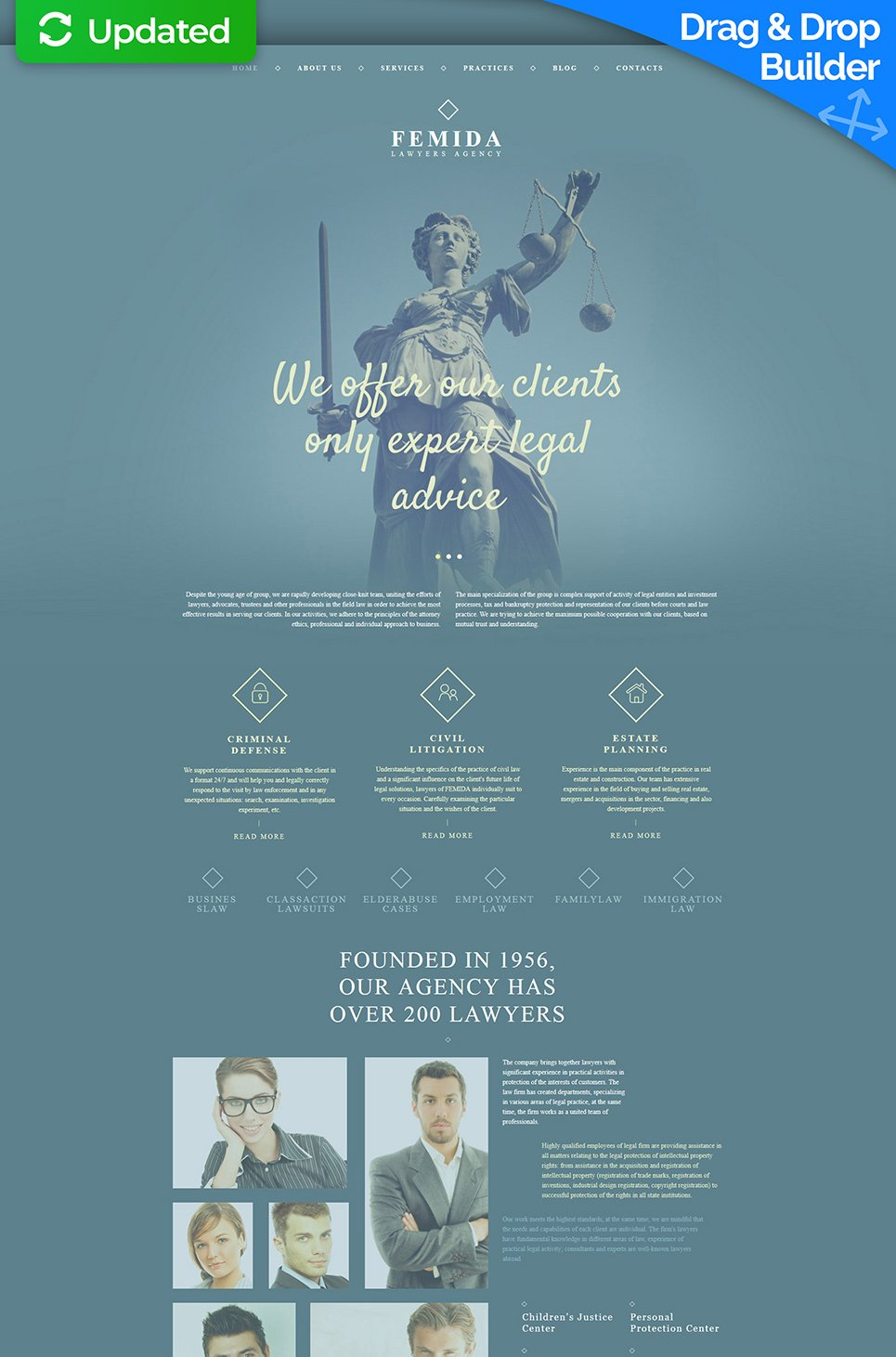Website template for lawyers